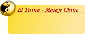 El Tuina-Masaje Chino
